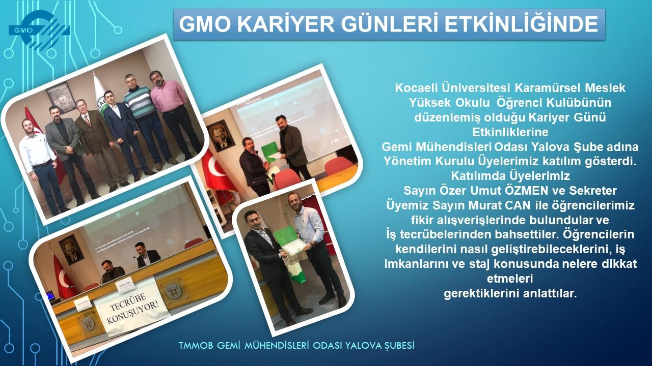 GMO KARİYER GÜNLERİ ETKİNLİĞİNDE YERİNİ ALDI