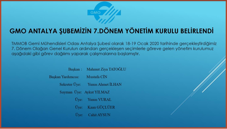 GMO Antalya Şubemizin 7. Dönem Yönetim Kurulu Belirlendi