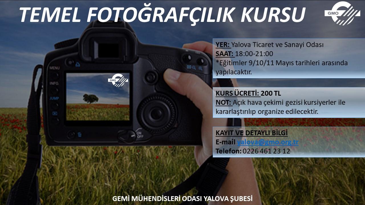 TEMEL FOTOĞRAFÇILIK KURSU AÇILIYOR