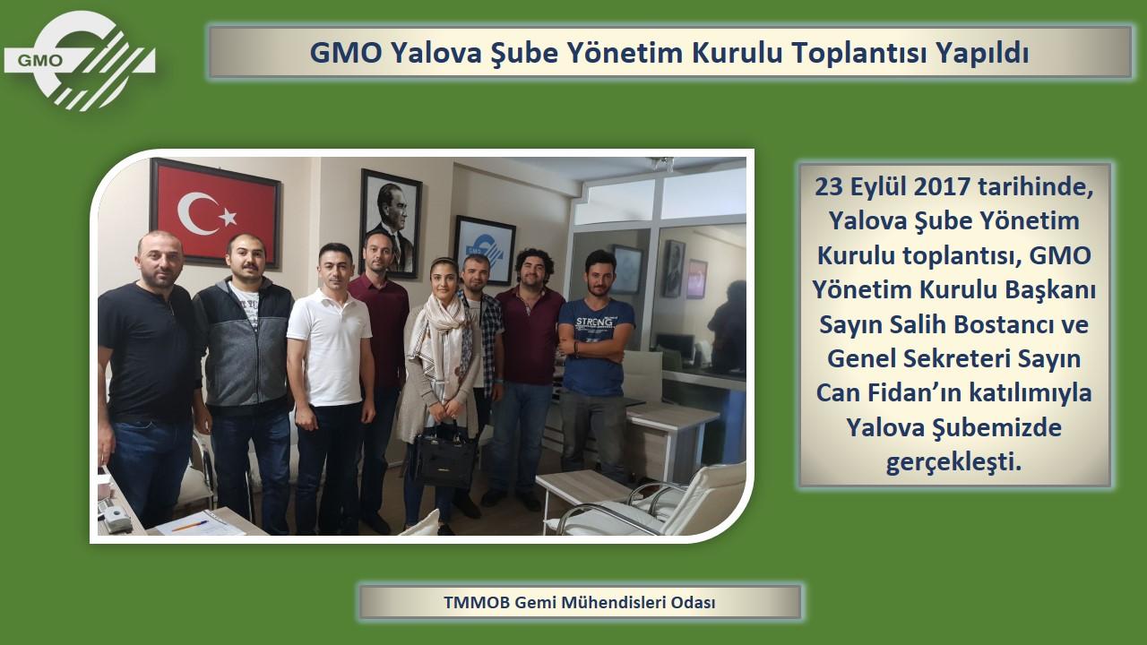 GMO YALOVA ŞUBE YÖNETİM KURULU TOPLANTISI YAPILDI