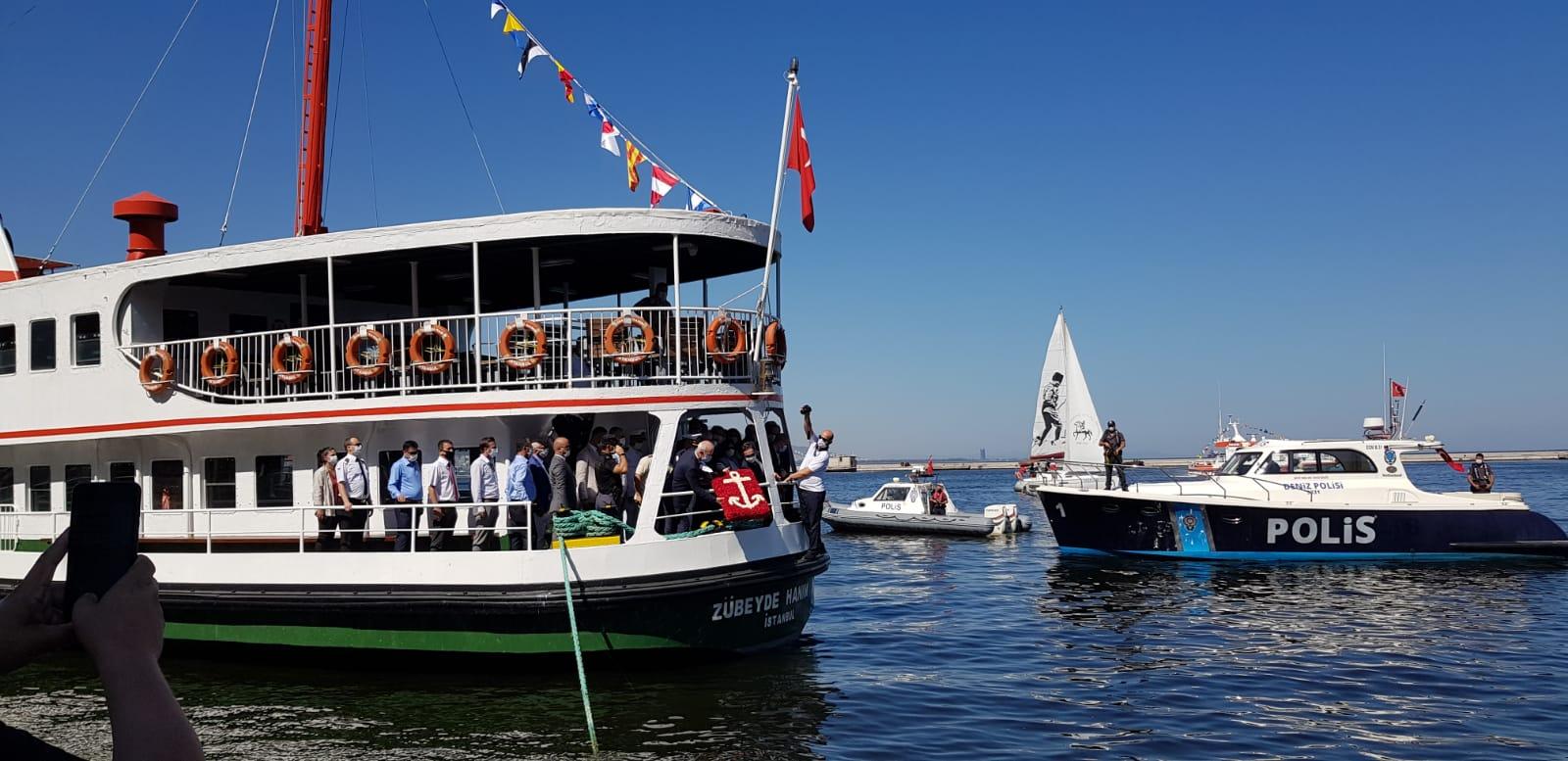 1 Temmuz Denizcilik ve Kabotaj Bayramı Çelenk Sunma Töreni
