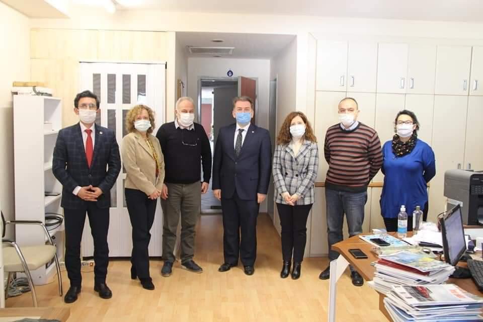 CHP Konak İlçe Başkanlığı STK ve Meslek Odaları Komisyonu Şubemizi ziyaret etti.